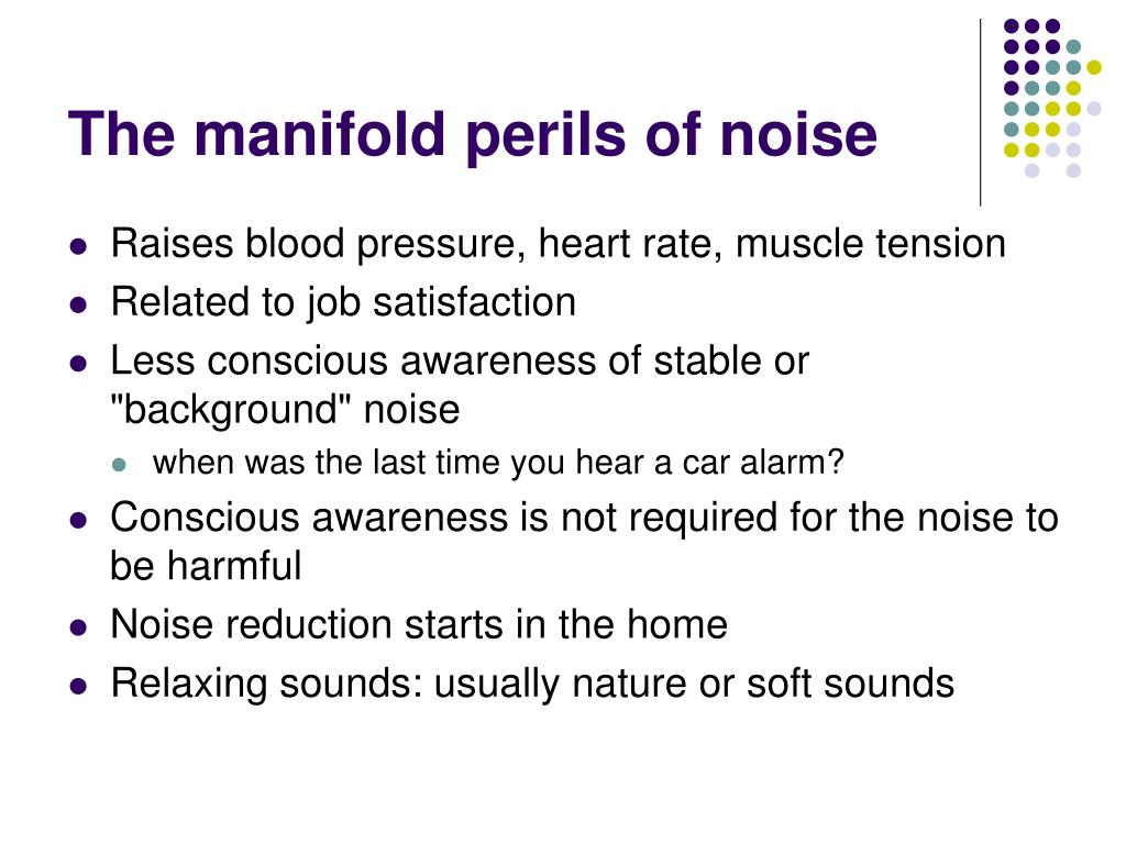 The manifold perils of noise