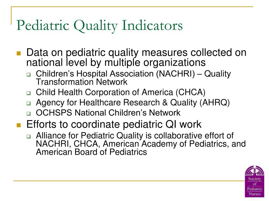 Pediatric Quality Indicators