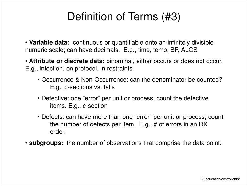 Definition of Terms (#3)