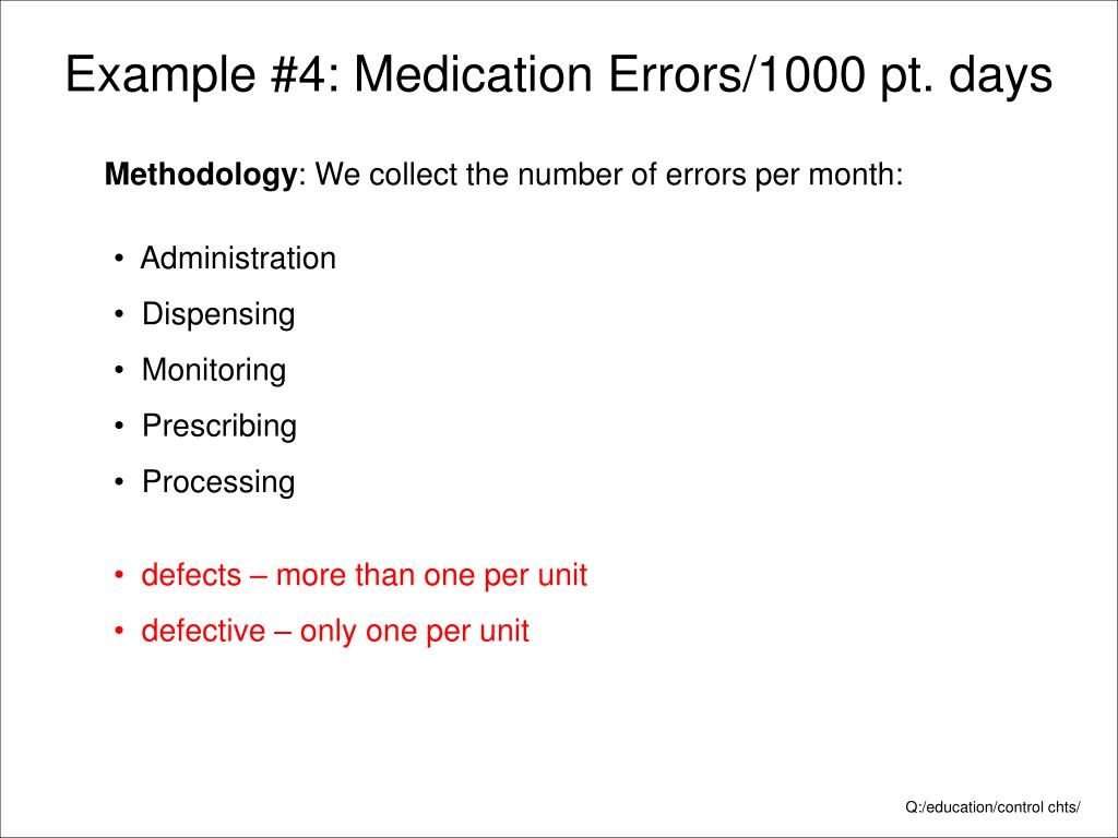 Example #4: Medication Errors/1000 pt. days