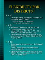 flexibility for districts