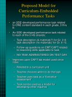 proposed model for curriculum embedded performance tasks