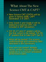 what about the new science cmt capt