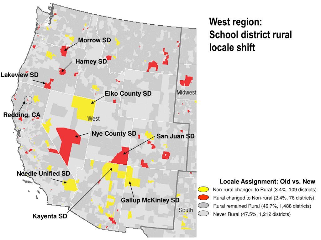 West region: