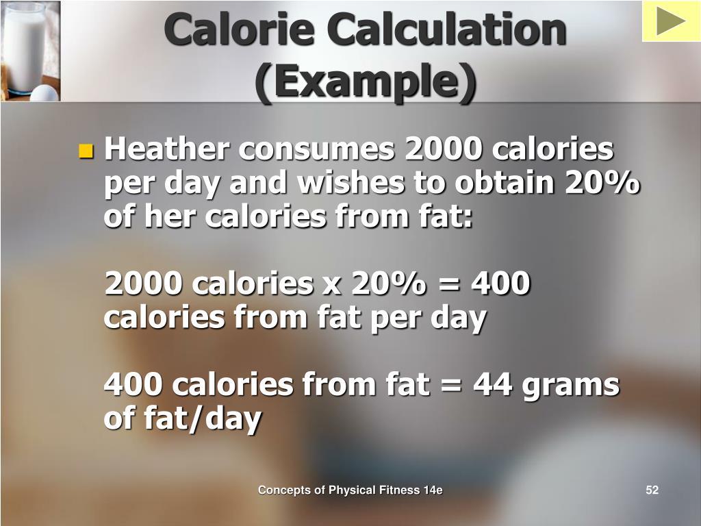 Calorie Calculation