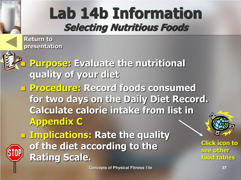 Lab 14b Information