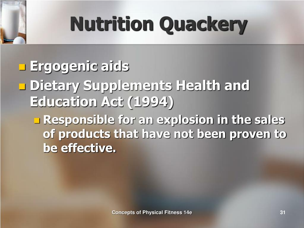 Nutrition Quackery