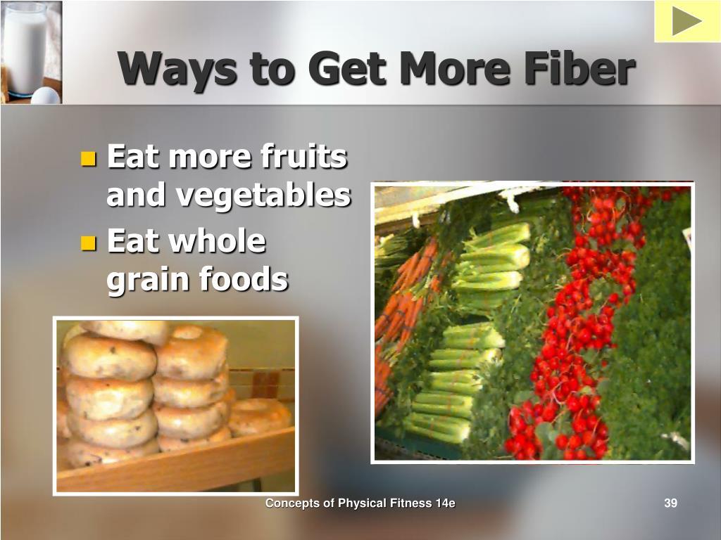 Ways to Get More Fiber