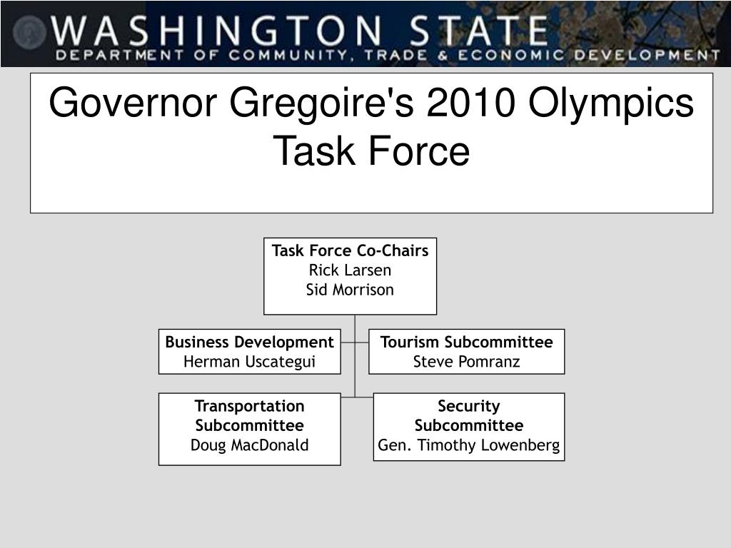 Governor Gregoire's 2010 Olympics Task Force