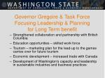 governor gregoire task force focusing leadership planning for long term benefit