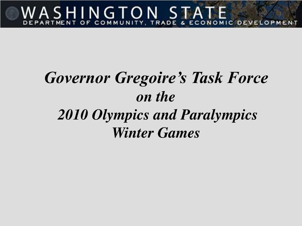 Governor Gregoire's Task Force