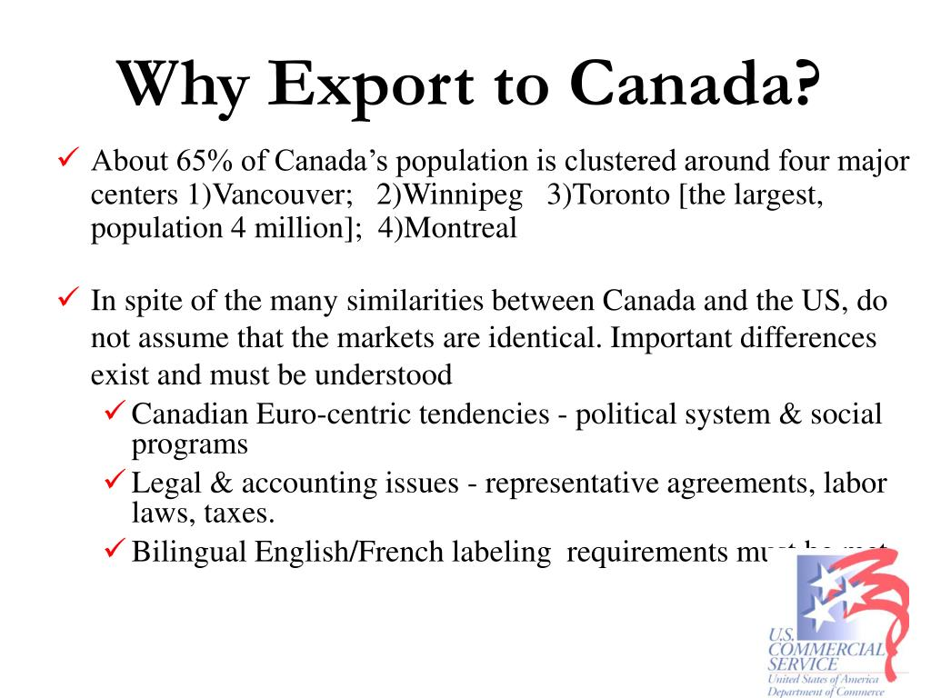 Why Export to Canada?