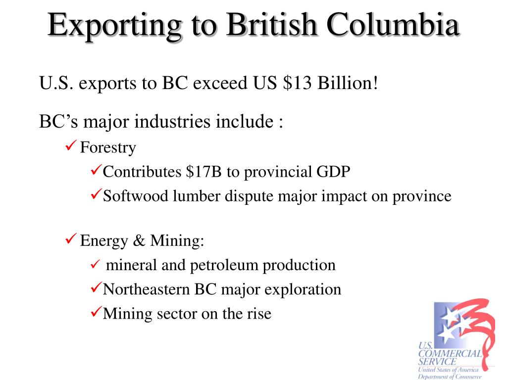 Exporting to British Columbia