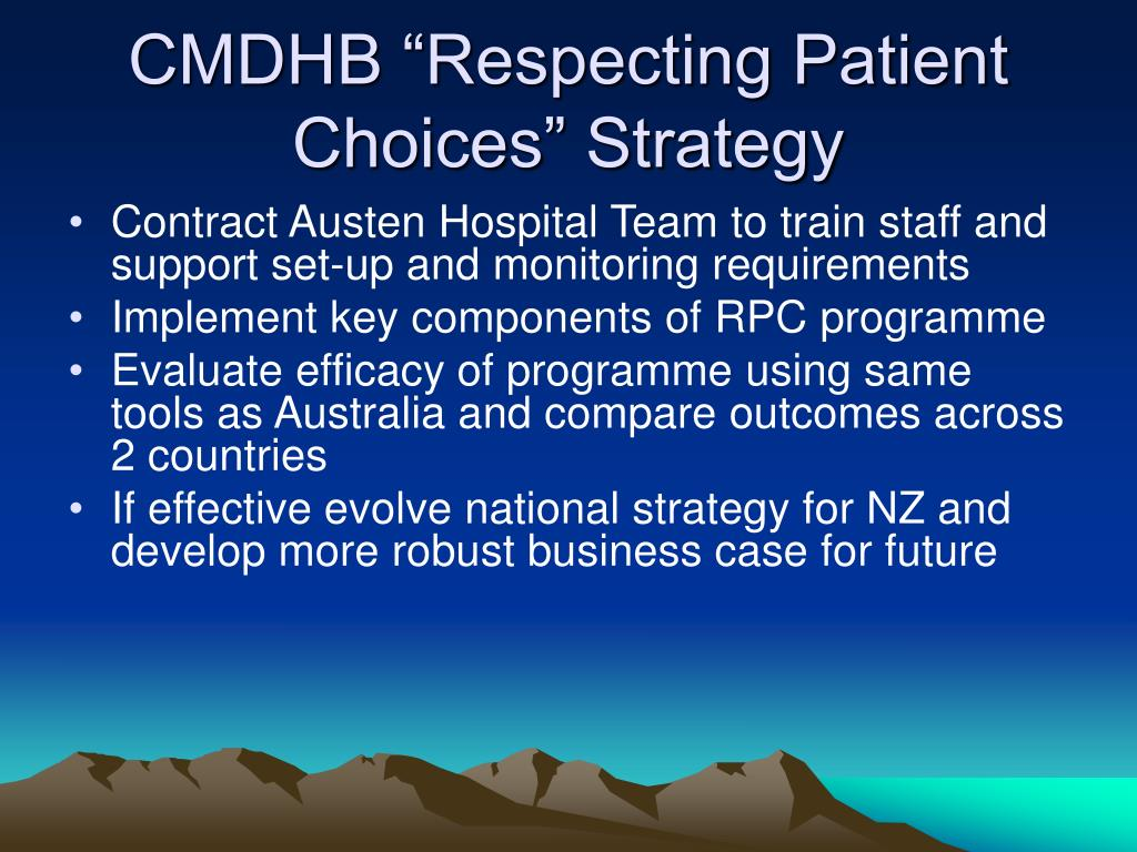 "CMDHB ""Respecting Patient Choices"" Strategy"