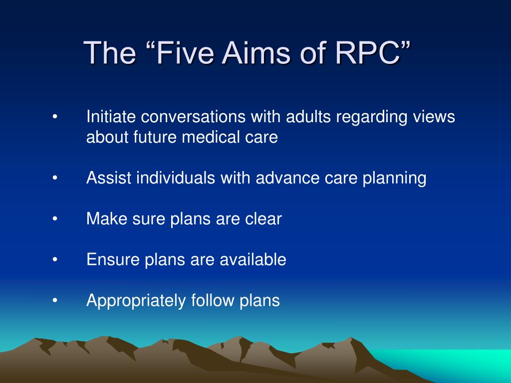 "The ""Five Aims of RPC"""