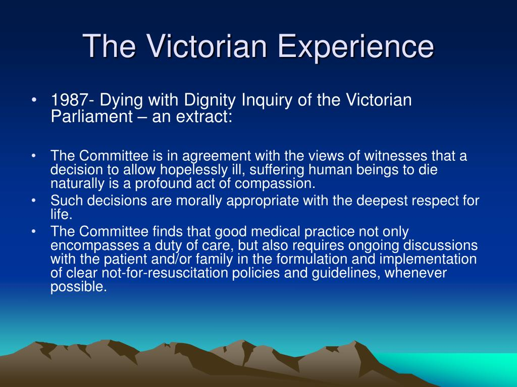 The Victorian Experience