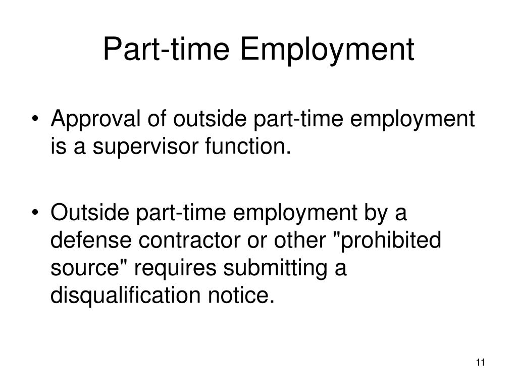 Part-time Employment