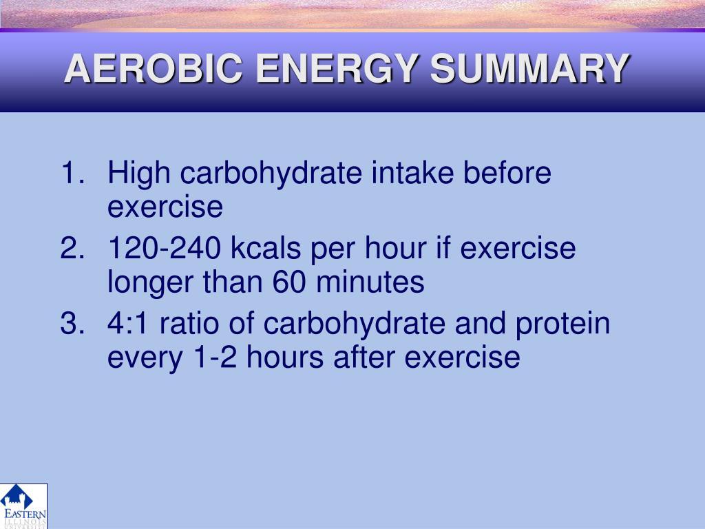AEROBIC ENERGY SUMMARY