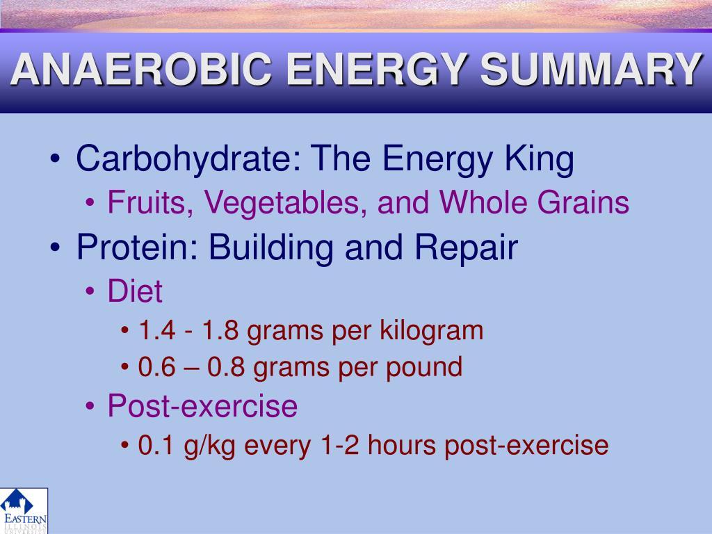 ANAEROBIC ENERGY SUMMARY
