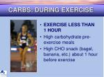carbs during exercise