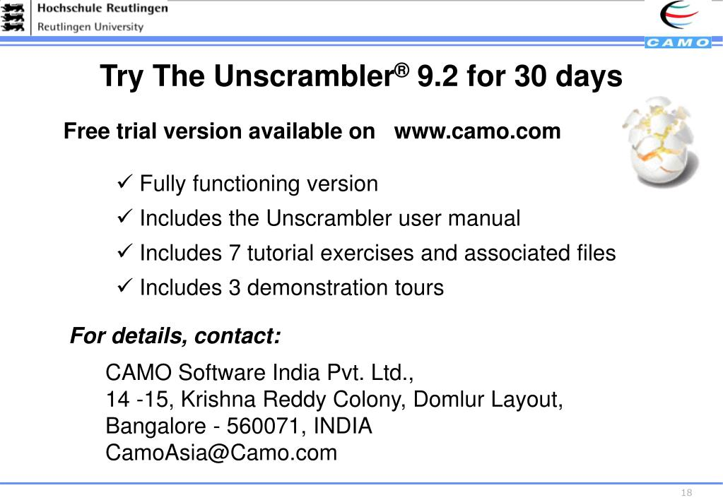 Try The Unscrambler