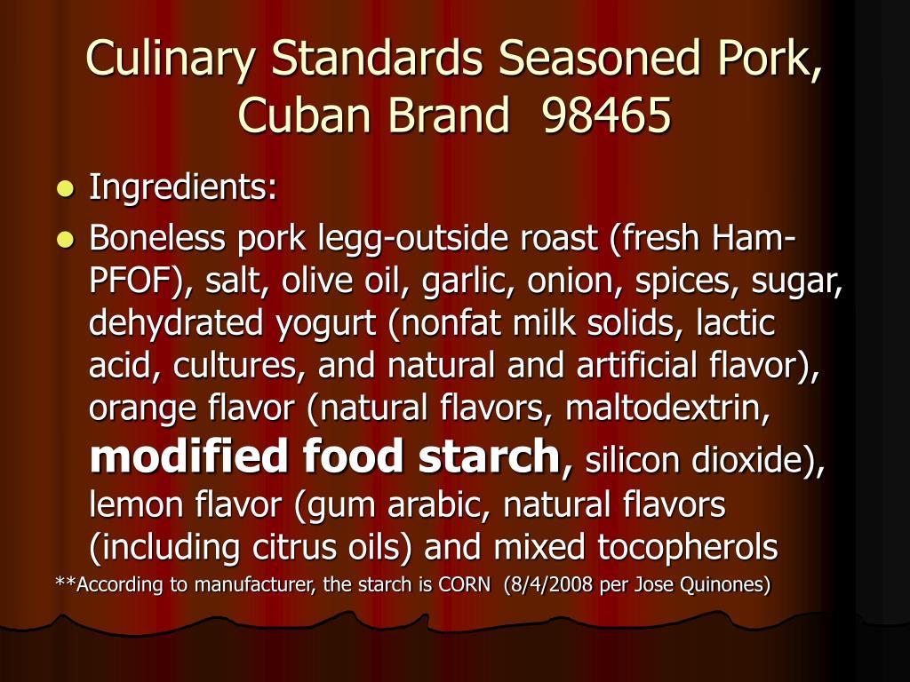 Culinary Standards Seasoned Pork, Cuban Brand  98465
