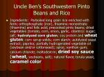 uncle ben s southwestern pinto beans and rice