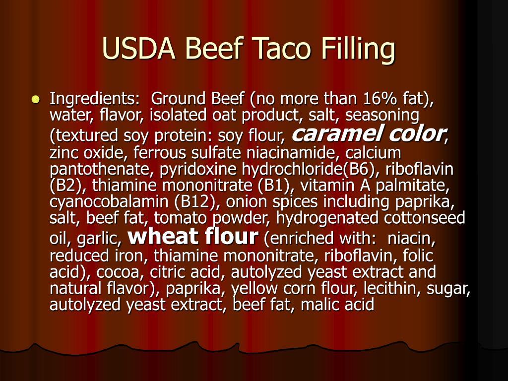 USDA Beef Taco Filling