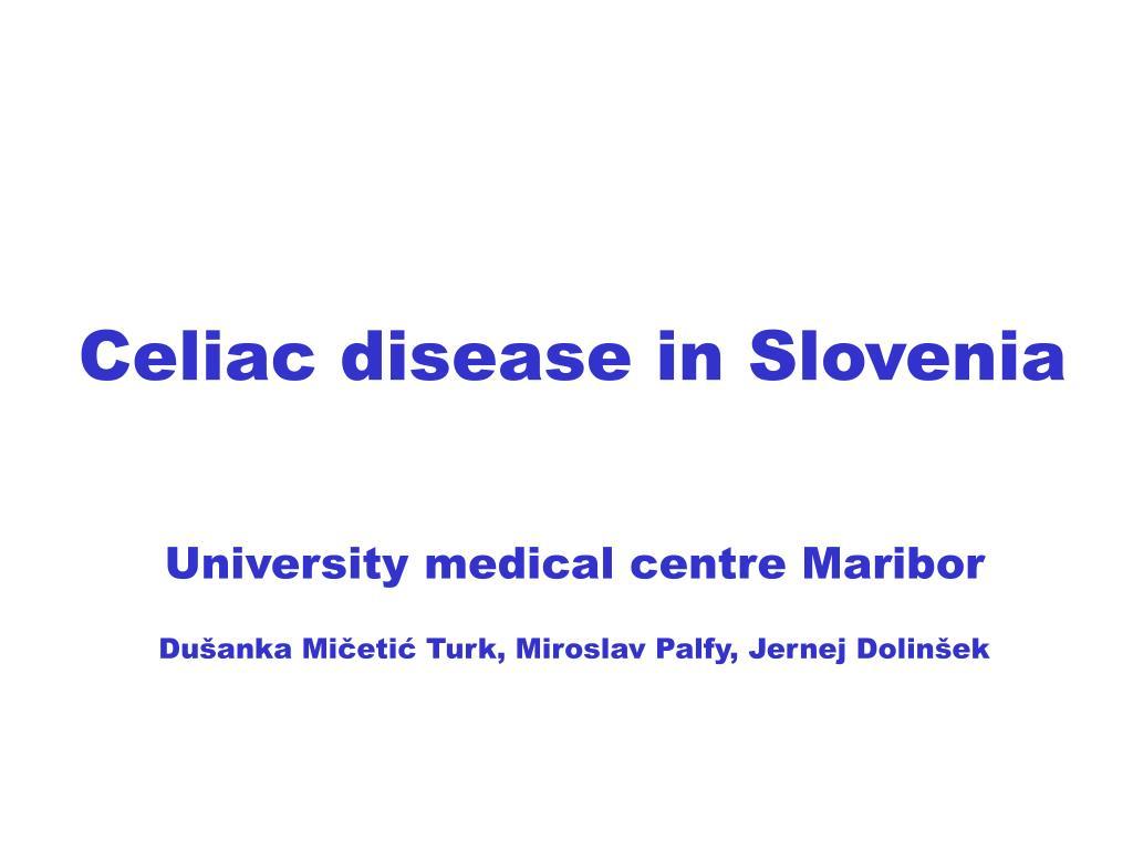 Celiac disease in Slovenia
