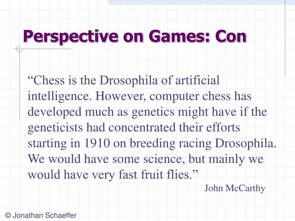 Perspective on Games: Con