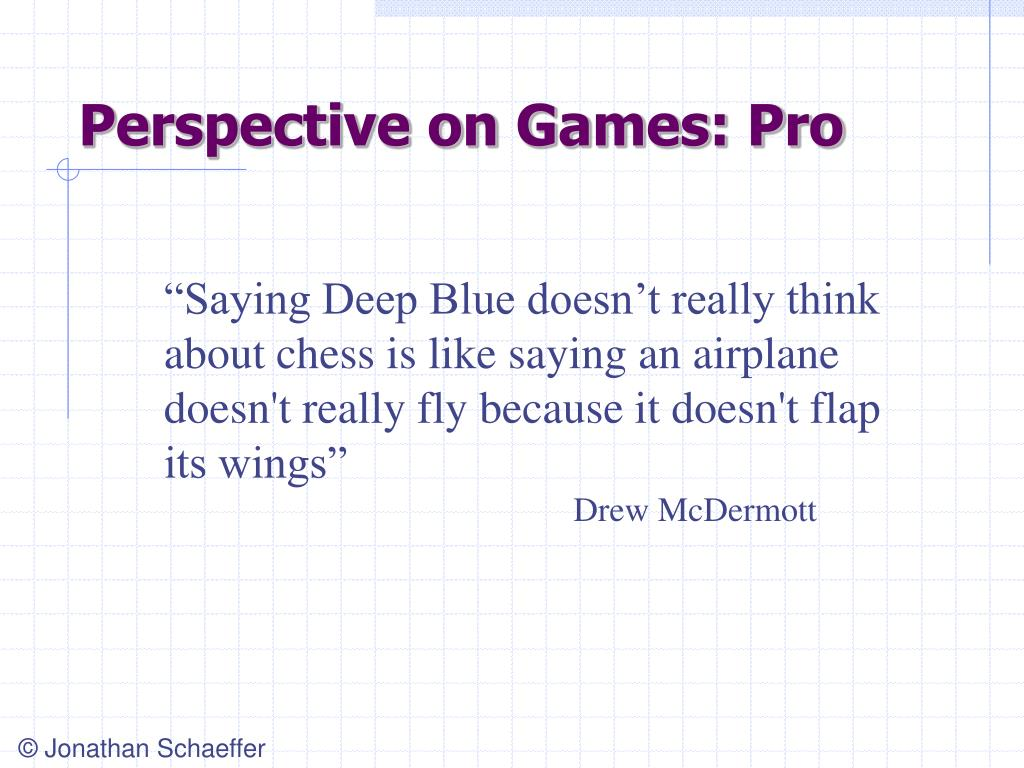 Perspective on Games: Pro