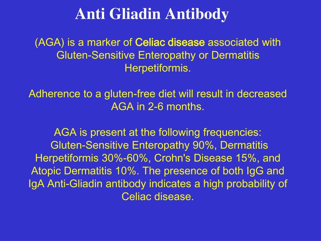 Anti Gliadin Antibody