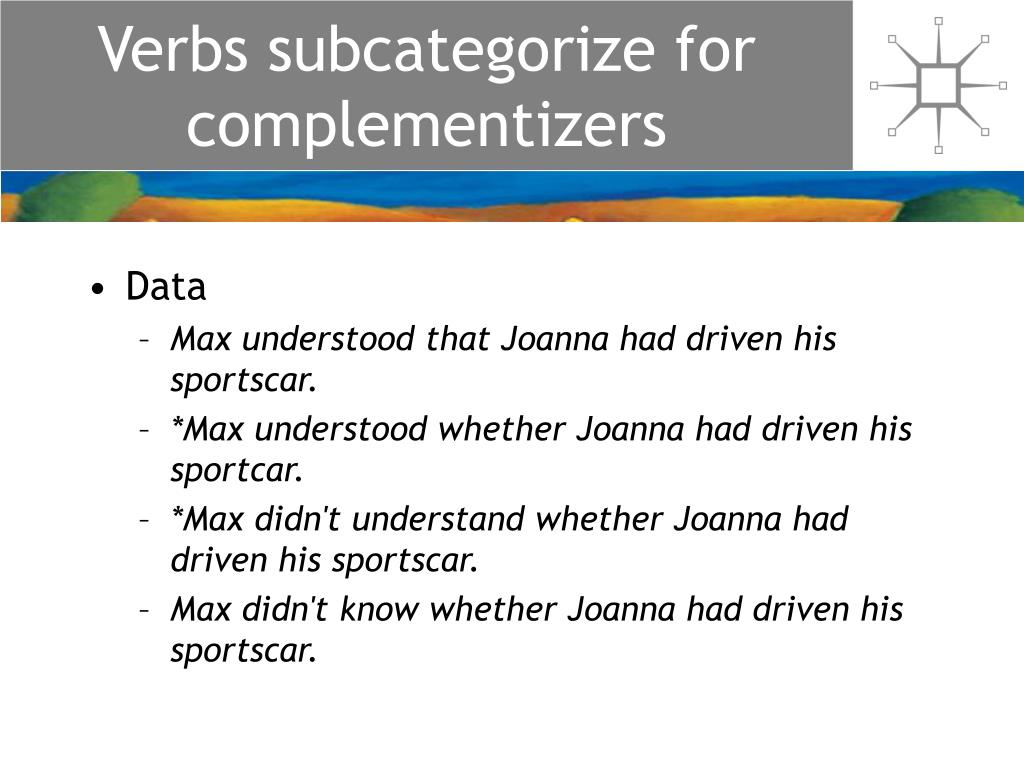 Verbs subcategorize for complementizers