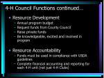 4 h council functions continued45