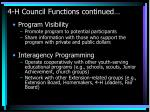 4 h council functions continued46
