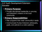 4 h youth development extension educator