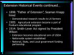 extension historical events continued18