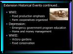 extension historical events continued19
