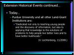 extension historical events continued21
