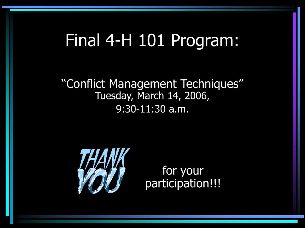 Final 4-H 101 Program: