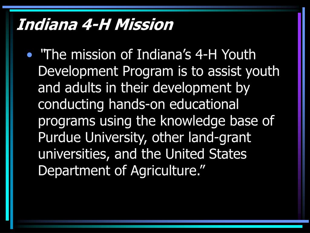 Indiana 4-H Mission