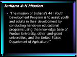 indiana 4 h mission