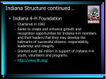 indiana structure continued
