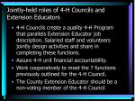 jointly held roles of 4 h councils and extension educators