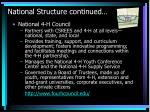 national structure continued
