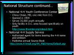 national structure continued25