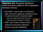 objective 4 recognize significant historical events related to the cooperative extension service
