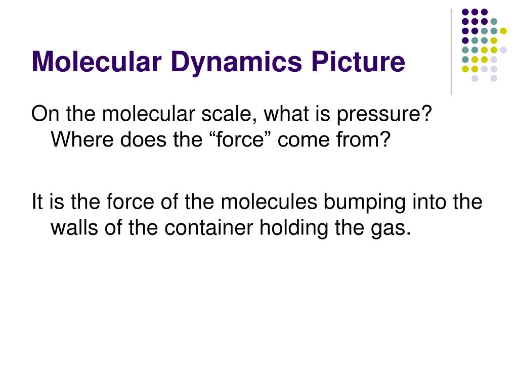Molecular Dynamics Picture