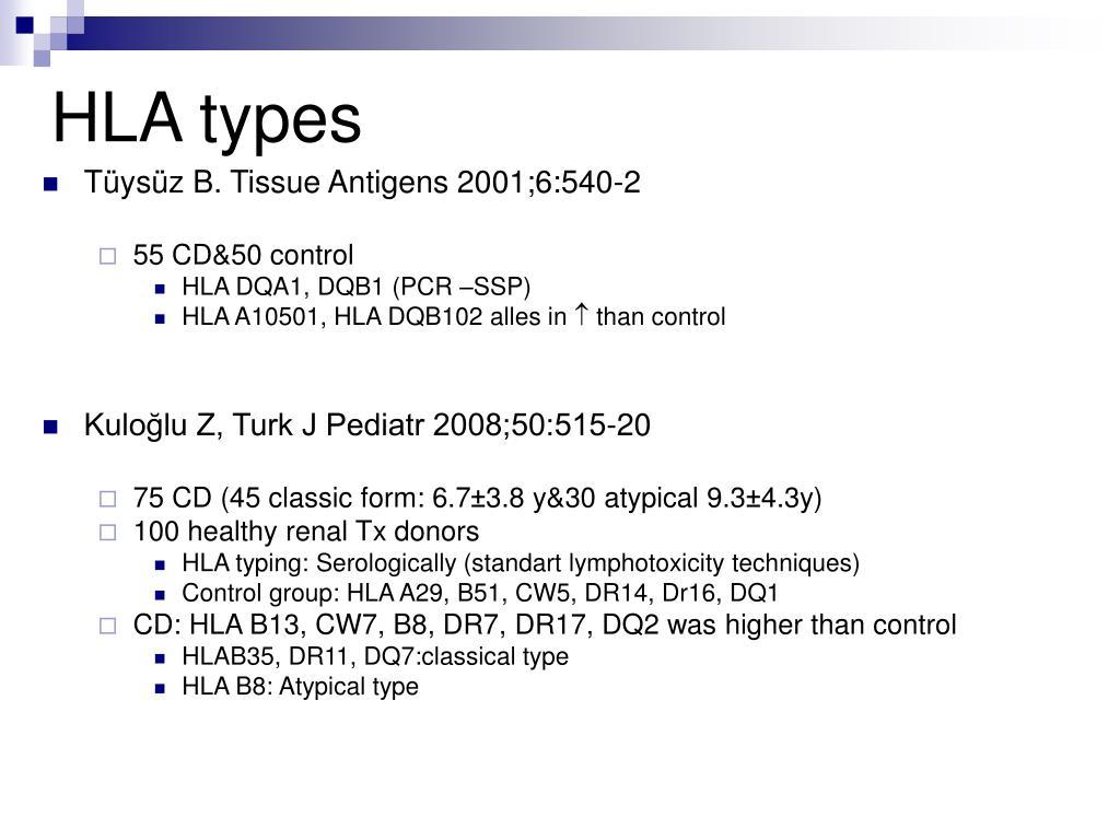 HLA types