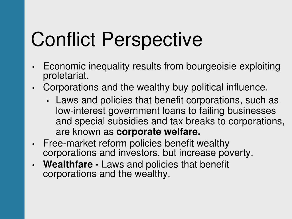 a discussion on the conflict perspective Theory discussion: conflict theory & structural functionalism a discussion of social theories is given in major concepts of a sociological perspective of.
